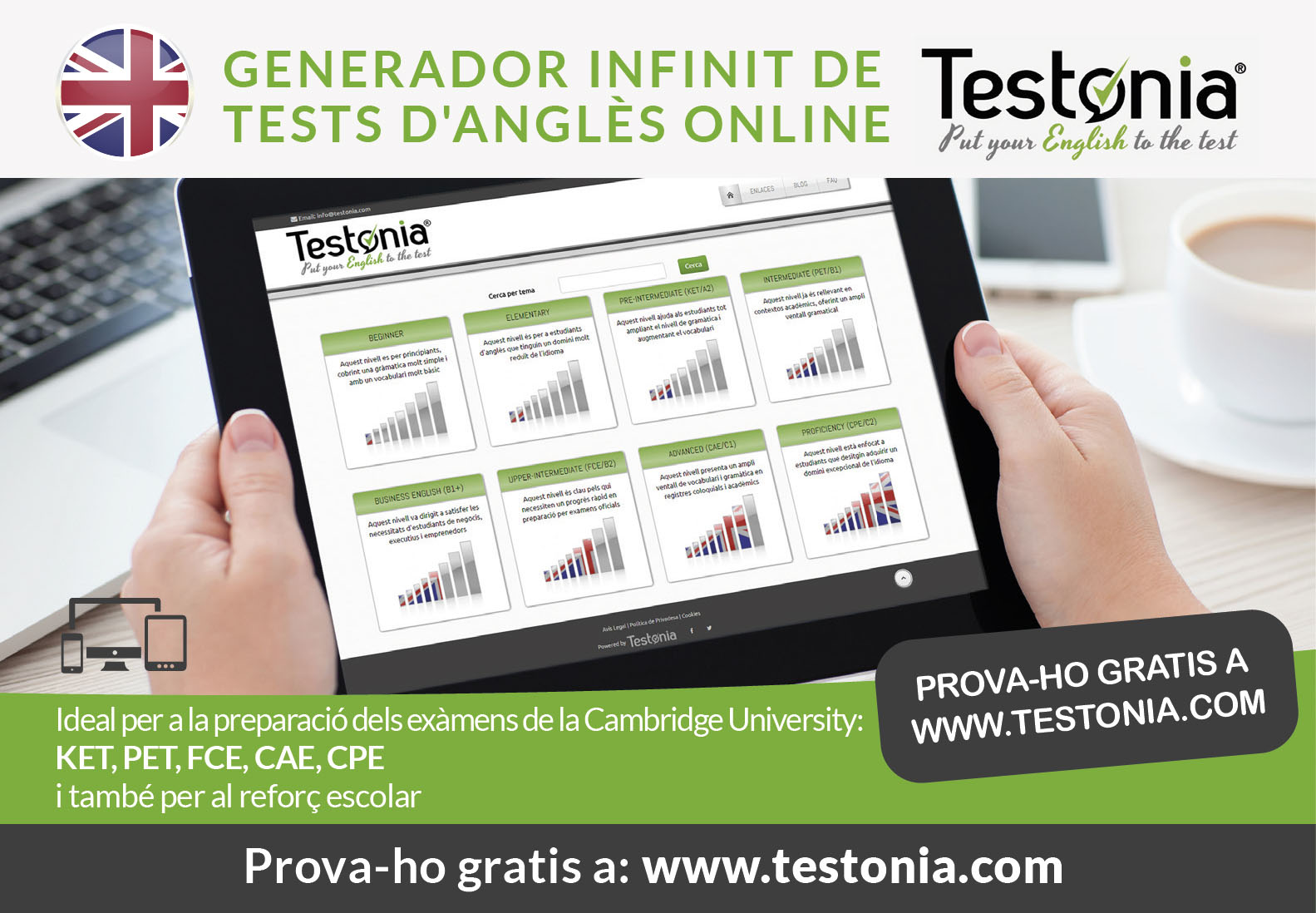 Testonia tests online gratis catala